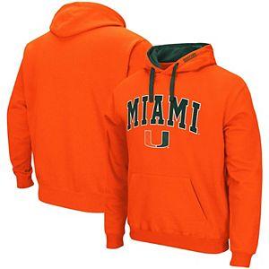 Men's Colosseum Orange Miami Hurricanes Arch & Logo 2.0 Pullover Hoodie