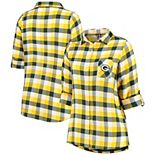 Women's Concepts Sport Green/Gold Green Bay Packers Plus Size Breakout Flannel Nightshirt