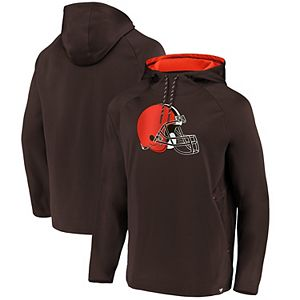 Men's NFL Pro Line by Fanatics Branded Brown Cleveland Browns Iconic Embossed Defender Pullover Hoodie