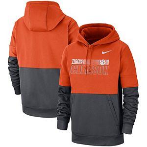 Men's Nike Orange/Anthracite Clemson Tigers Sideline Performance Pullover Hoodie