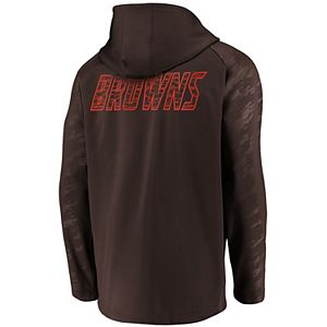 Men's NFL Pro Line by Fanatics Branded Brown Cleveland Browns Iconic Embossed Defender Full-Zip Hoodie