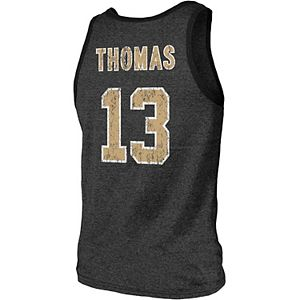 Men's Majestic Threads Michael Thomas Black New Orleans Saints Player Name & Number Tri-Blend Tank Top