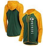 Women's NFL Pro Line by Fanatics Branded Green Green Bay Packers Forever Fan Full-Zip Hoodie