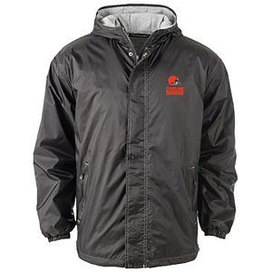 Men's Black/Graphite Cleveland Browns Legacy Stadium Full-Zip Jacket
