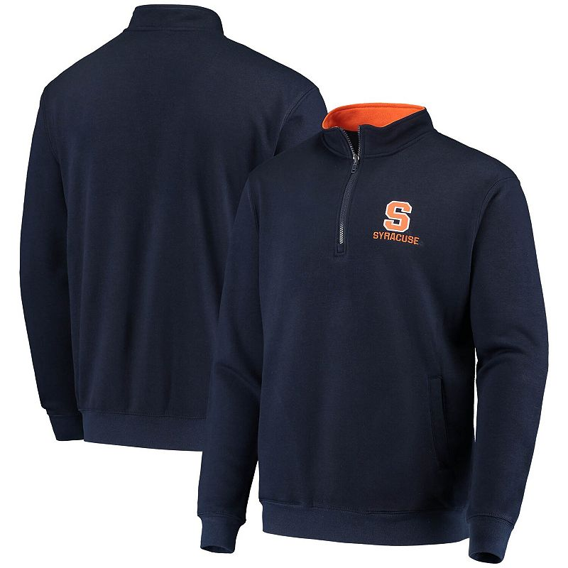 Men's Colosseum Navy Syracuse Orange Tortugas Logo Quarter-Zip Jacket, Size: Small, Blue