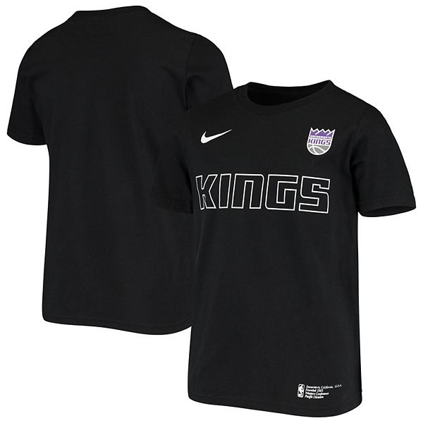 Youth Nike Black Sacramento Kings Facility T-Shirt