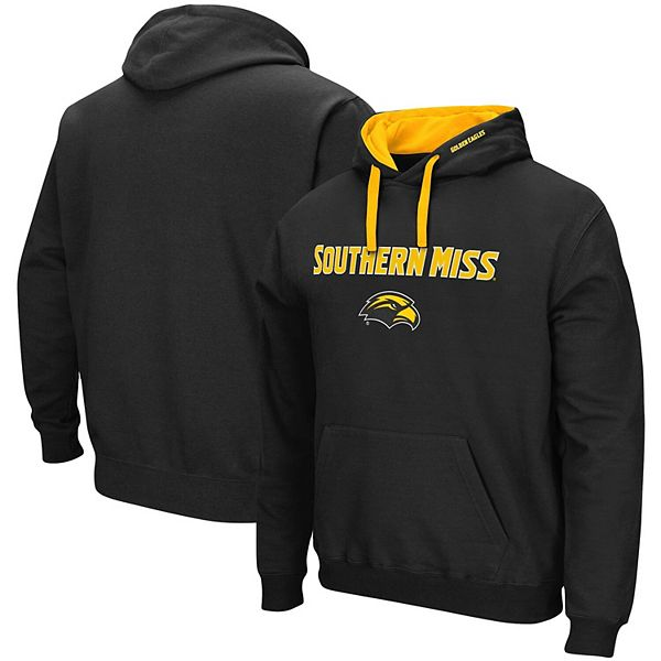 Men's Colosseum Black Southern Miss Golden Eagles Arch & Logo 2.0 Pullover Hoodie