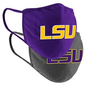 Adult Colosseum LSU Tigers Logo Face Covering 2-Pack