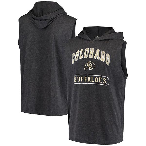 Men's Colosseum Black Colorado Buffaloes Varsity Hoodie Tank Top