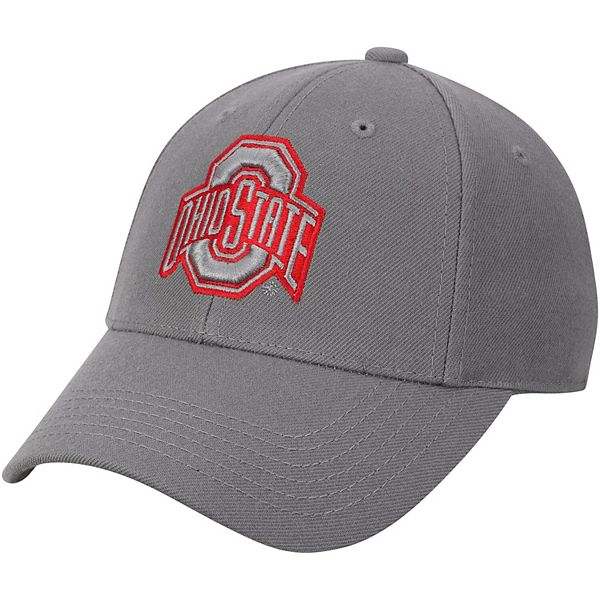 Men's Top of the World Gray Ohio State Buckeyes NCAA Dynasty Fitted Hat