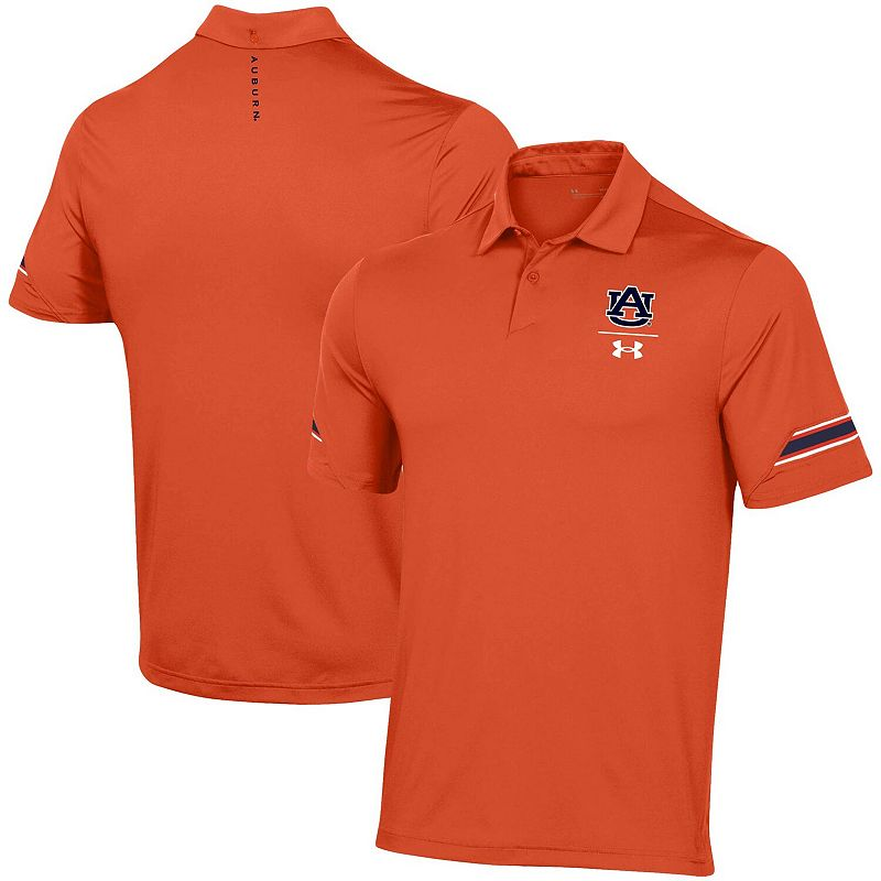 Men's Under Armour Orange Auburn Tigers Elevated Coaches Polo, Size: 2XL