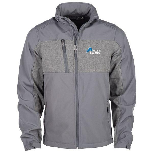 Men's Graphite Detroit Lions Zephyr Softshell Full-Zip Jacket
