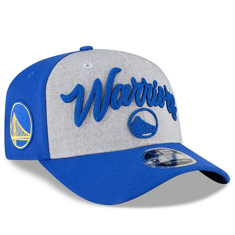 Men's New Era Royal/Heather Gray Golden State Warriors 2020 NBA Draft OTC Stretch Snap 9FIFTY Snapback Adjustable Hat, Grey