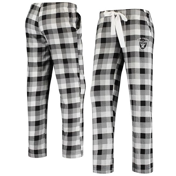 Women's Concepts Sport Black Las Vegas Raiders Breakout Flannel Pants