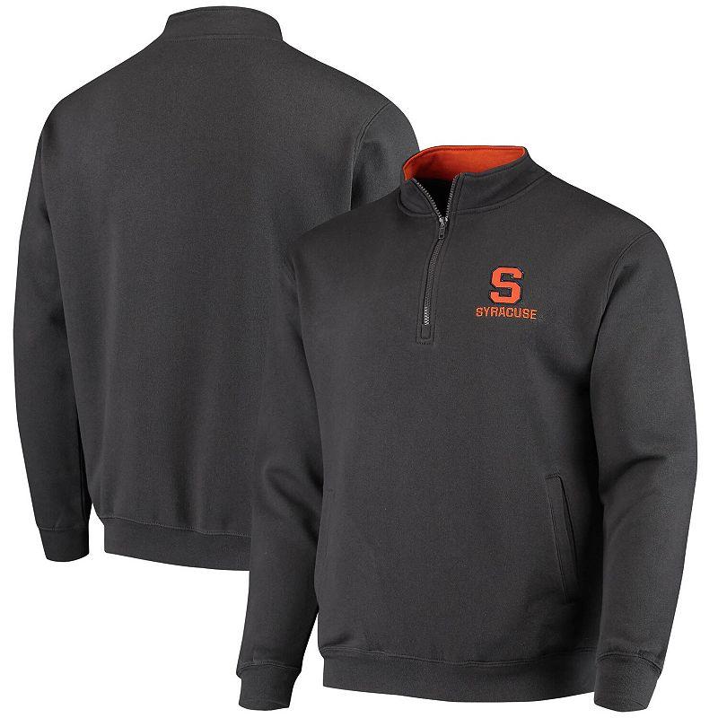 Men's Colosseum Charcoal Syracuse Orange Tortugas Logo Quarter-Zip Jacket, Size: Small, Grey