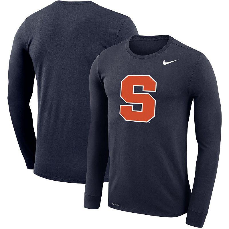Men's Nike Navy Syracuse Orange Big & Tall Primary Logo Legend Performance Long Sleeve T-Shirt, Size: 3XB, Blue