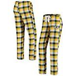 Women's Concepts Sport Green Green Bay Packers Breakout Flannel Pants