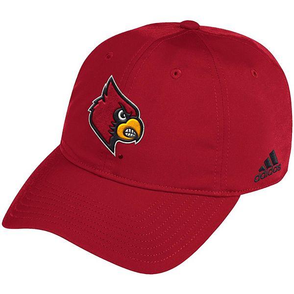 Men's adidas Red Louisville Cardinals Sideline Coach Adjustable Hat