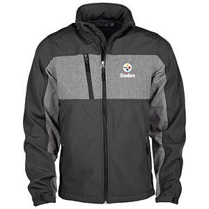 Men's Black Pittsburgh Steelers Zephyr Softshell Full-Zip Jacket