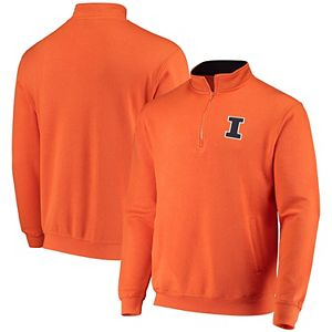 Men's Colosseum Orange Illinois Fighting Illini Tortugas Logo Quarter-Zip Jacket
