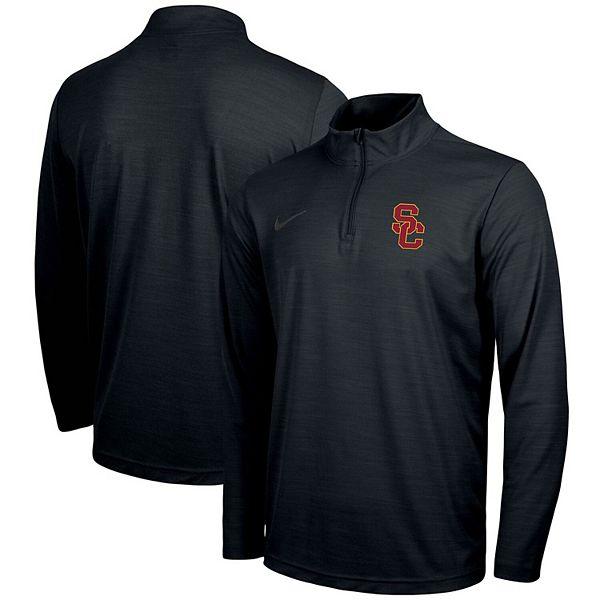 Men's Nike Black USC Trojans Big & Tall Primary Logo Intensity Performance Quarter-Zip Jacket