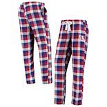 Women's Concepts Sport Royal New York Giants Breakout Flannel Pants