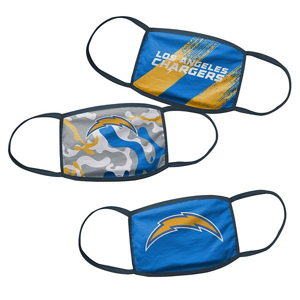Youth Los Angeles Chargers Face Covering 3-Pack