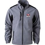 Men's Charcoal San Francisco 49ers Softshell Fleece Full-Zip Jacket