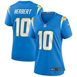 Women's Nike Justin Herbert Powder Blue Los Angeles Chargers 2020 NFL Draft First Round Pick Game Jersey