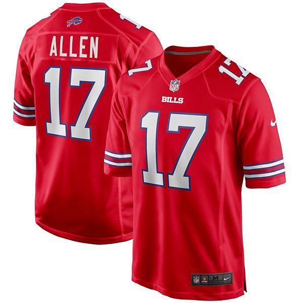 Men's Nike Josh Allen Red Buffalo Bills Alternate Game Jersey