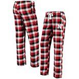 Women's Concepts Sport Scarlet/Black Nebraska Cornhuskers Breakout Flannel Pants