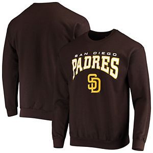 Men's Stitches Brown San Diego Padres Team Pullover Sweatshirt