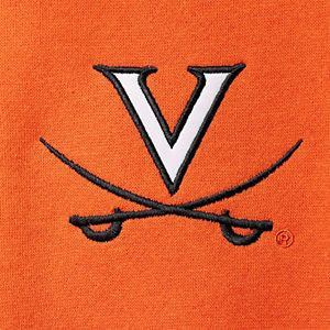Men's Colosseum Orange Virginia Cavaliers Tortugas Logo Quarter-Zip Jacket