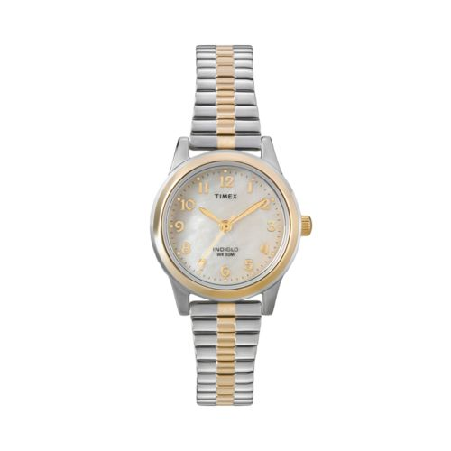 Timex Two Tone Mother-of-Pearl Expansion Watch - T2M828 - Women