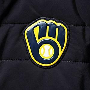 Men's Levelwear Navy Milwaukee Brewers Beta Full-Zip Jacket