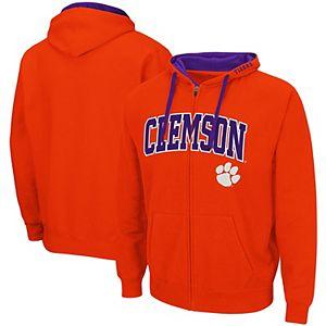 Men's Colosseum Orange Clemson Tigers Big & Tall Full-Zip Hoodie