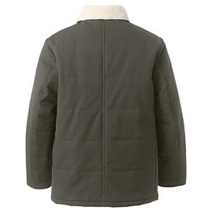 Big & Tall Lands' End Sherpa Lined Barn Coat