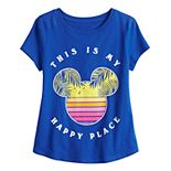 """Disney's Mickey Mouse Girls 4-16 """"Happy Place"""" Graphic Tee by Family Fun?"""