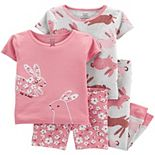 Baby Girl Carter's 4 Piece Cotton Pajama Set