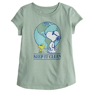 Girls 4-16 Family Fun? Peanuts Snoopy Earth Day Graphic Tee