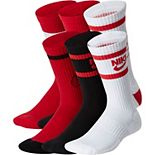 Kids Nike 6-Pack Everyday Cushioned Crew Socks