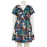 Plus Size ALEXIA ADMOR Floral Fit & Flare Dress