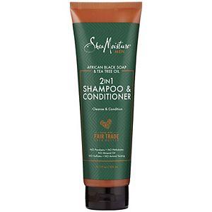 SheaMoisture Men's African Black Soap & Tea Tree Oil 2-in-1 Shampoo & Conditioner