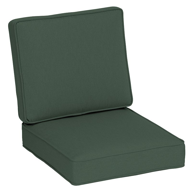 Arden Selections Oasis Deep Seat Cushion Set, Green, 24X22