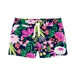 Toddler Girl Carter's Floral Pull-On French Terry Shorts