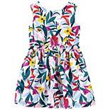 Toddler Girl Carter's Floral Linen Dress