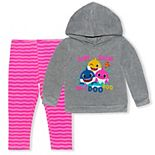 Toddler Girl Baby Shark Hoodie & Leggings Set
