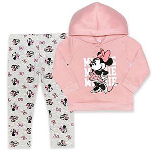 Disney's Minnie Mouse Baby Girl Hoodie & Leggings Set