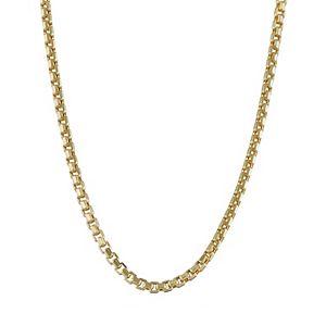Men's 10k Gold Box Chain Necklace