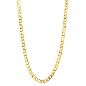 Men's 10k Gold Curb Chain Necklace